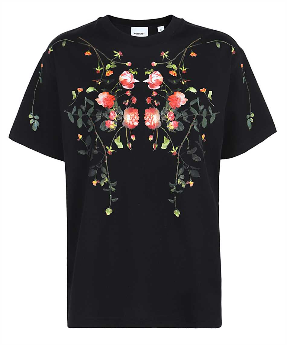 Burberry 8037295 ROSE PRINT COTTON OVERSIZED T-shirt 1