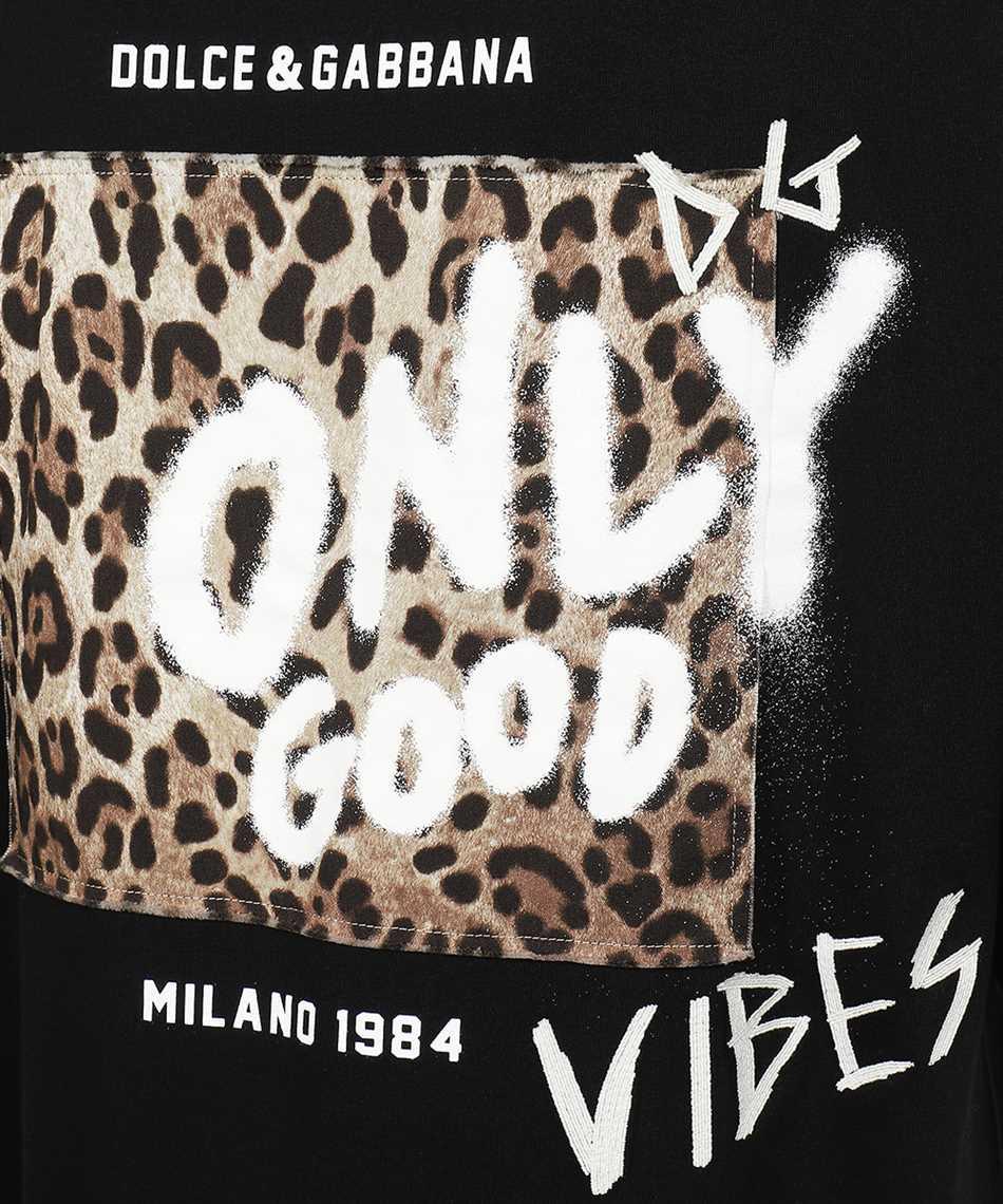 Dolce & Gabbana G8MY9Z HU7F0 PRINTED COTTON FRAYED PATCH T-shirt 3