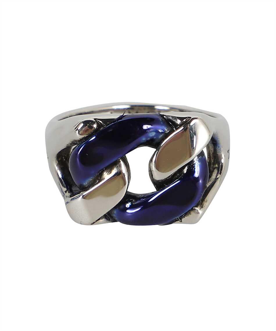 Alexander McQueen 663692 IAG2Y BLUE CHAIN Anello 1