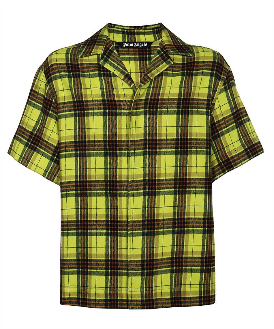 Palm Angels PMGA075F21FAB001 CURVED LOGO BOWLING Shirt 1