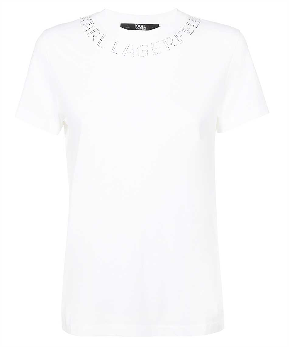 Karl Lagerfeld 216W1704 RHINESTONE KARL LOGO T-Shirt 1