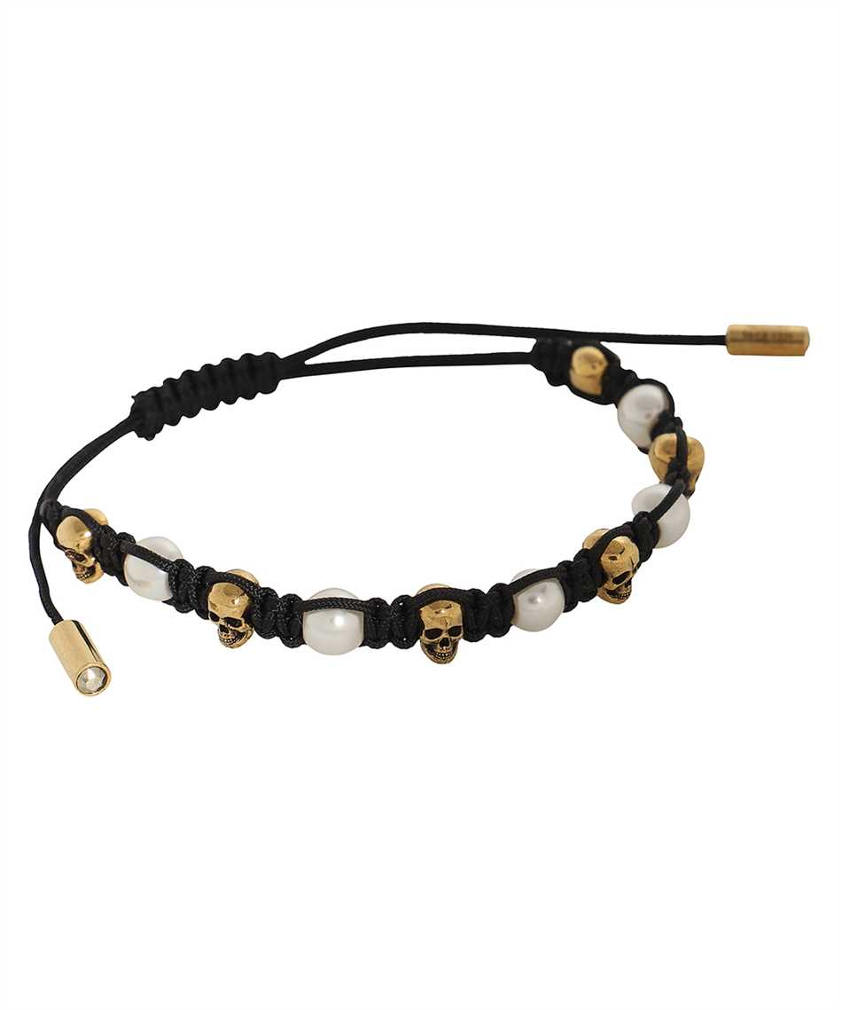 Alexander McQueen 667549 F12ST SKULL&PEARL Bracelet 1