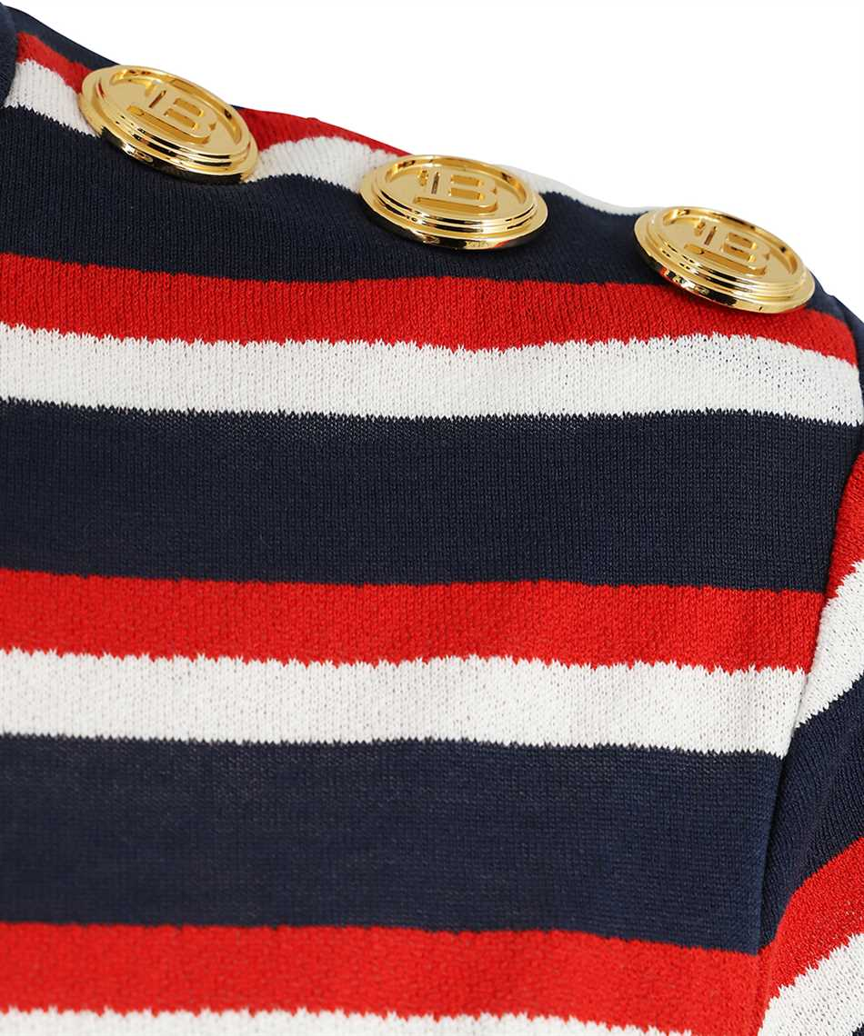 Balmain WF0EF005J198 STRIPED JERSEY T-shirt 3