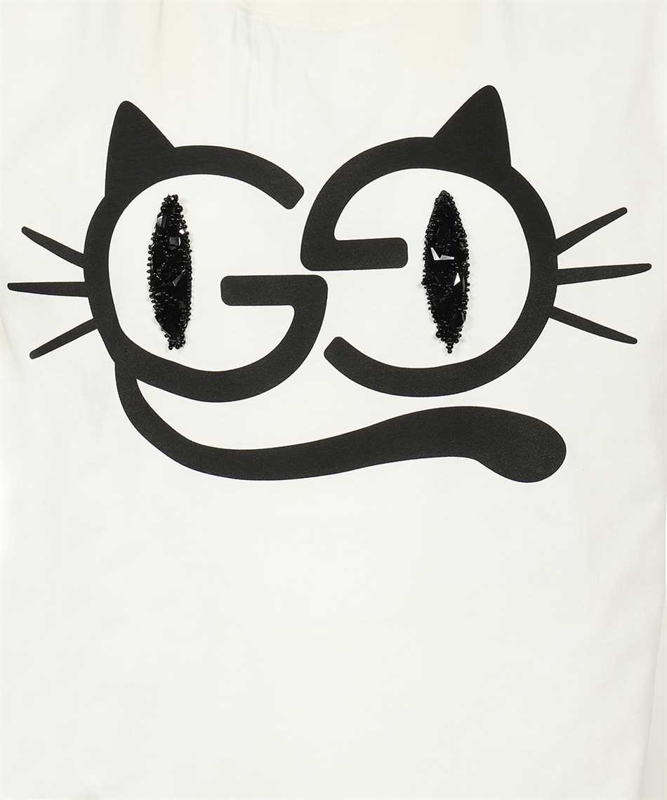 Gucci 615044 XJDGG CAT EYES PRINT COTTON JERSEY T-shirt 3