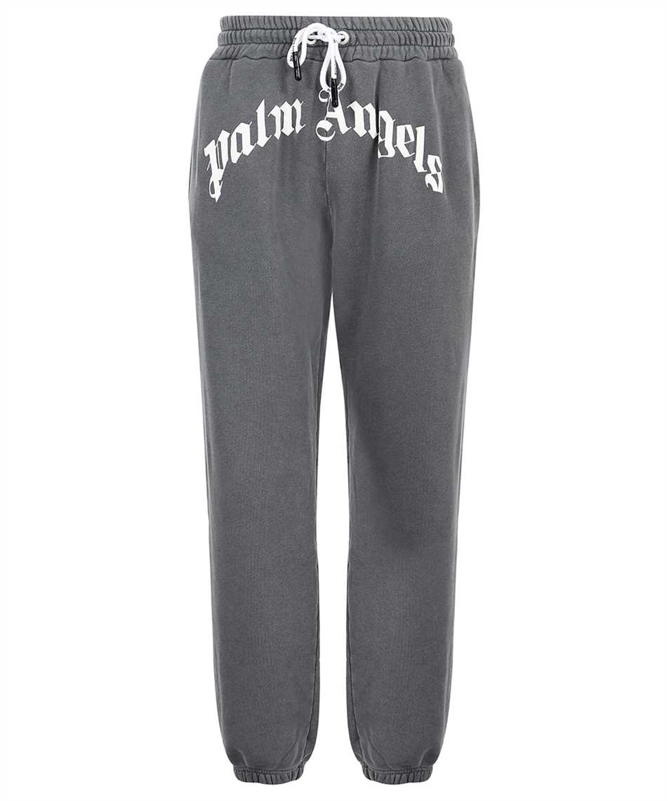 Palm Angels PMCH011F21FLE002 CURVED LOGO Trousers 1