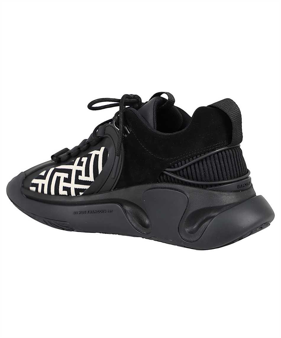 Balmain WM0VI261TKNM B RUNNER-MONOGRAM KNIT&SUEDE Sneakers 3