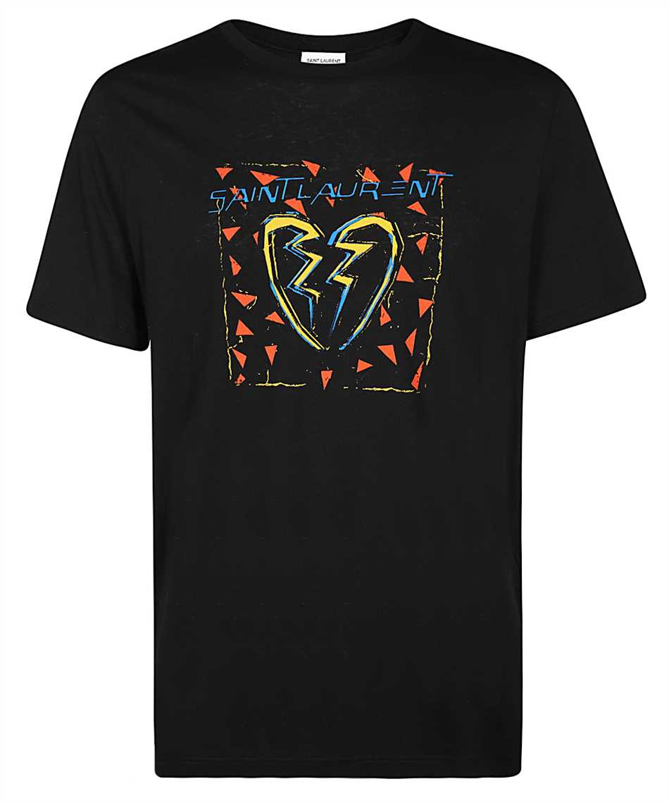 Saint Laurent 631805 YBVV2 BROKEN HEART T-Shirt 1