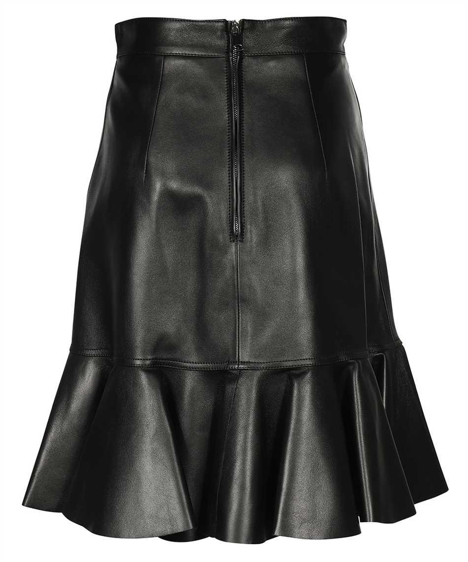 Alexander McQueen 668445 Q5AGK LEATHER RUFFLE Skirt 2