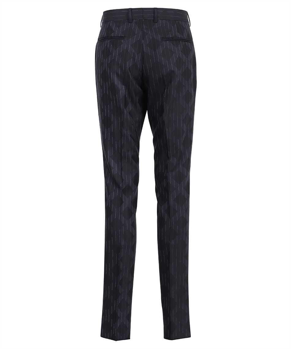 Versace A89256 1A00895 PINSTRIPE ARGYLE WOOL JACQUARD Trousers 2