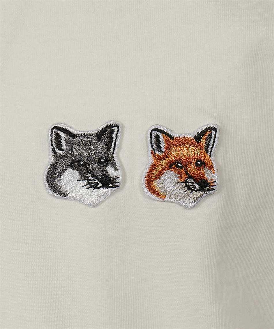 Maison Kitsune BU00103KJ0008 DOUBLE FOX HEAD PATCH T-shirt 3