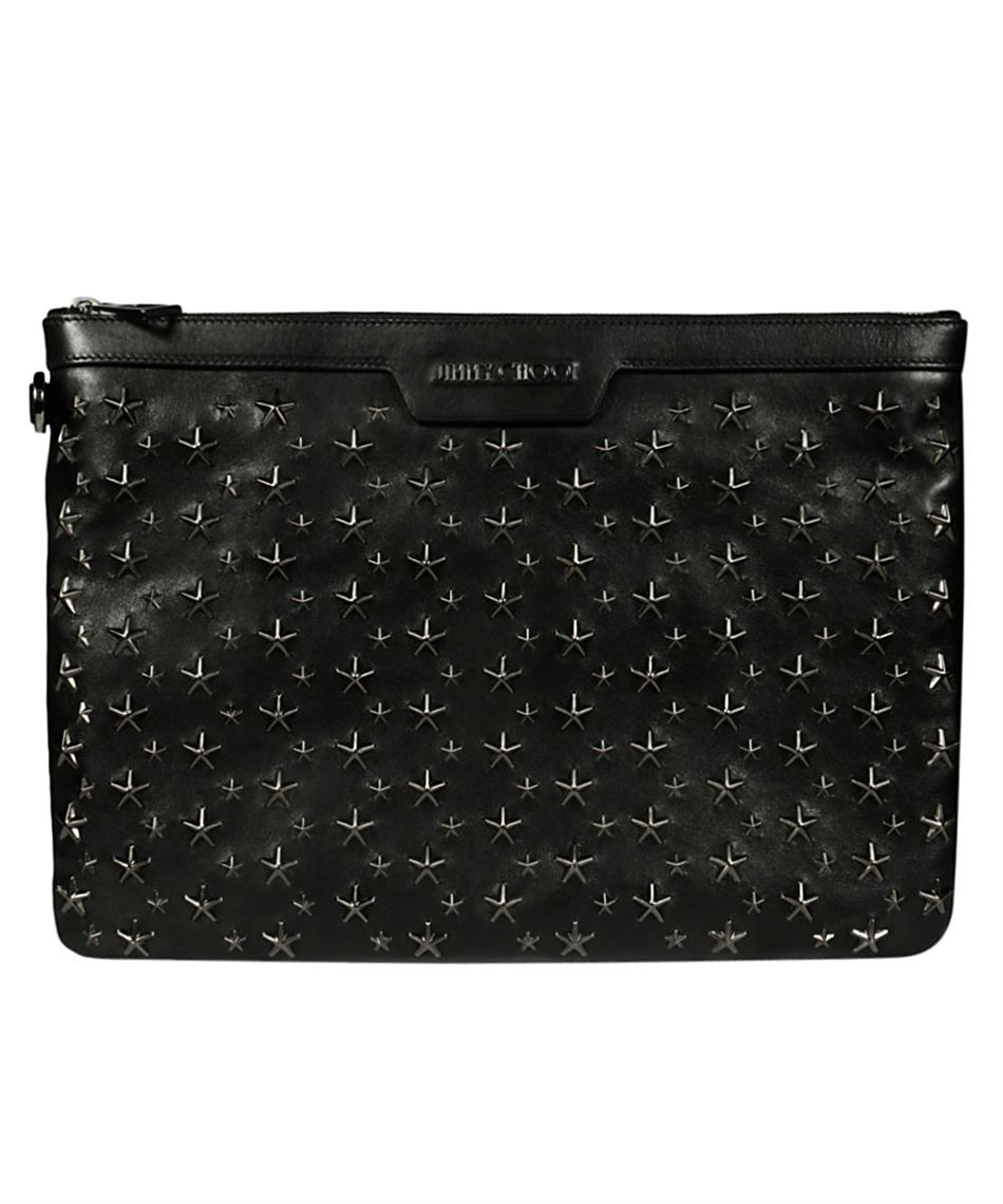be30b1a80db Jimmy Choo DEREK BLS men's leather clutch bag with studs | Luxury ...