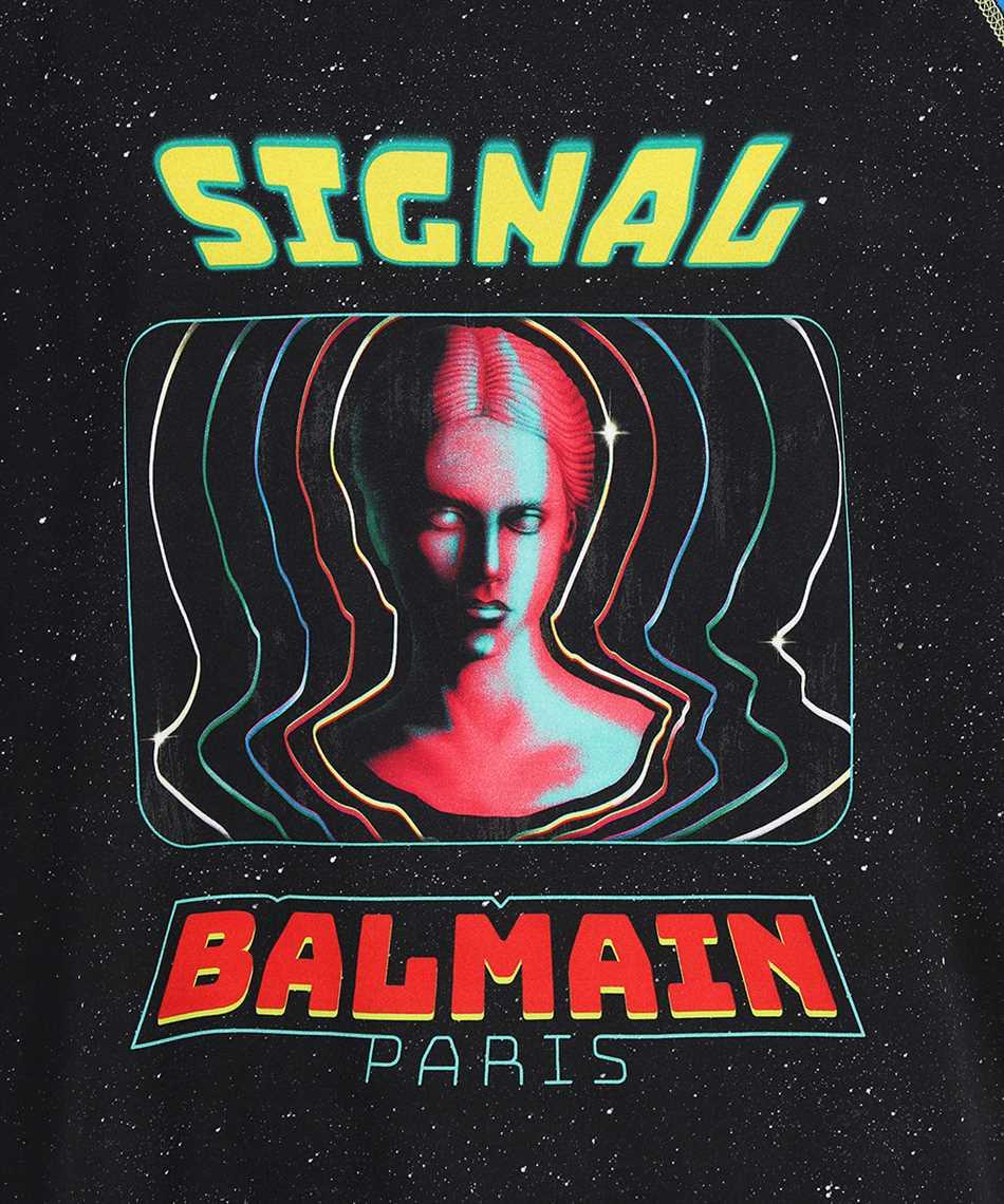 Balmain WH0EH006G119 SPACIAL PRINTED 3/4 SLEEVES T-Shirt 3