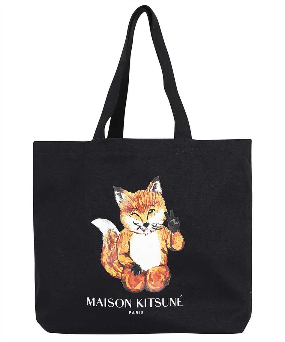 Maison Kitsune HU05132WW0008 ALL-RIGHT FOX CLASSIC TOTE Bag 1
