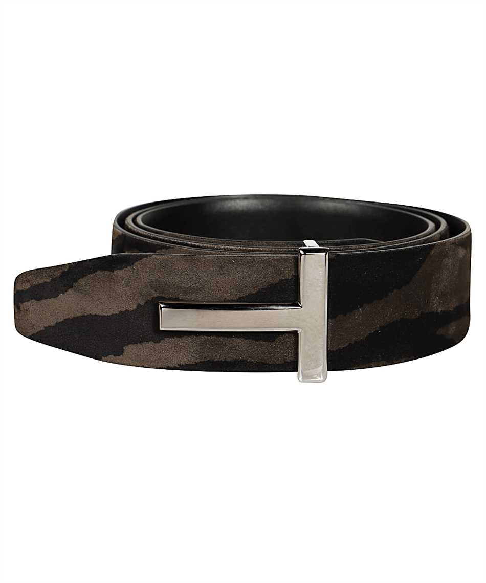 Tom Ford TB178P-LCL078 ZEBRA SUEDE T ICON Belt 2