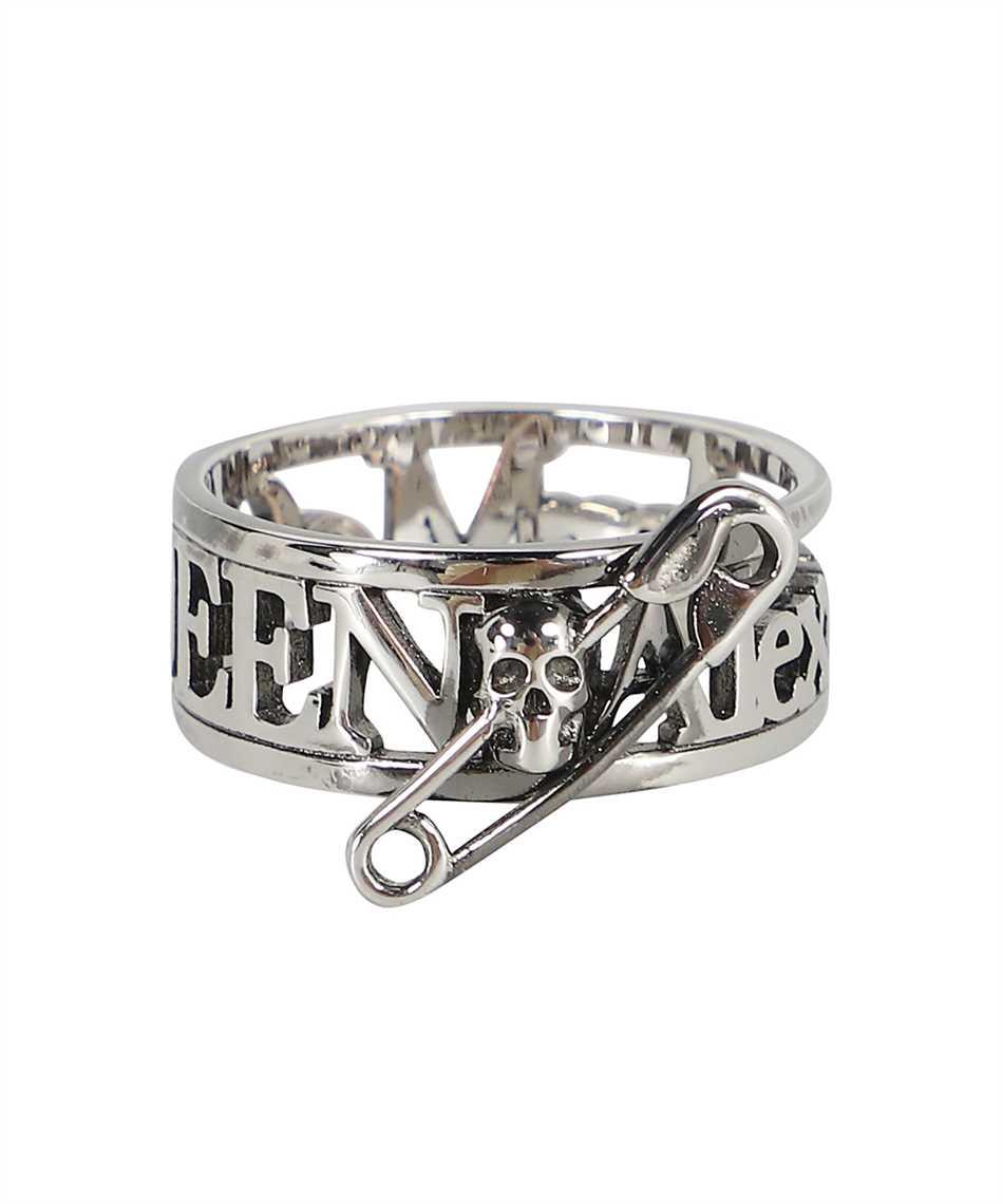 Alexander McQueen 663824 J160Y SKULL SAFETY PIN Ring 1