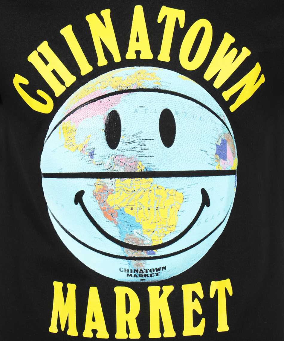 Chinatown Market 1990276 SMILEY GLOBE BALL T-shirt 3