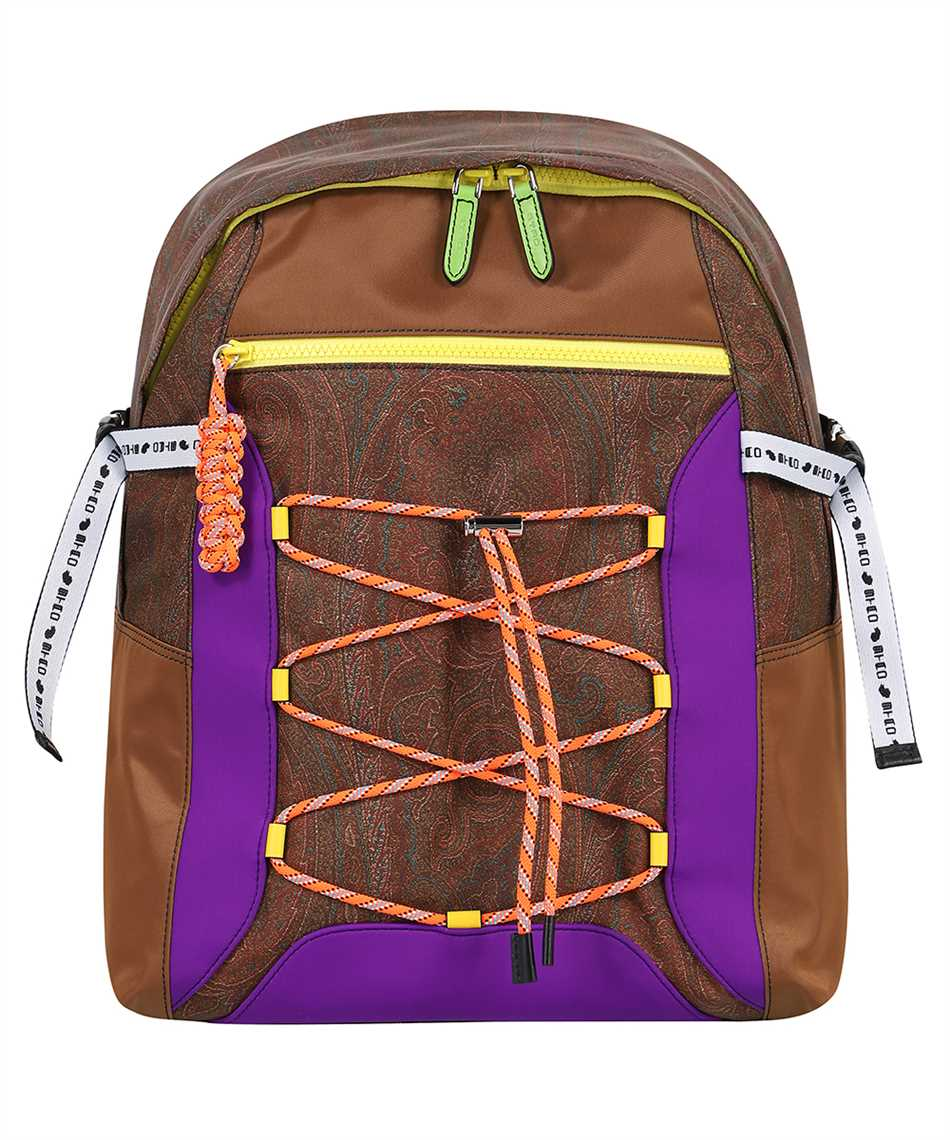 Etro 1N553 8568 PAISLEY WITH MULTICOLORED DETAILS Backpack 1