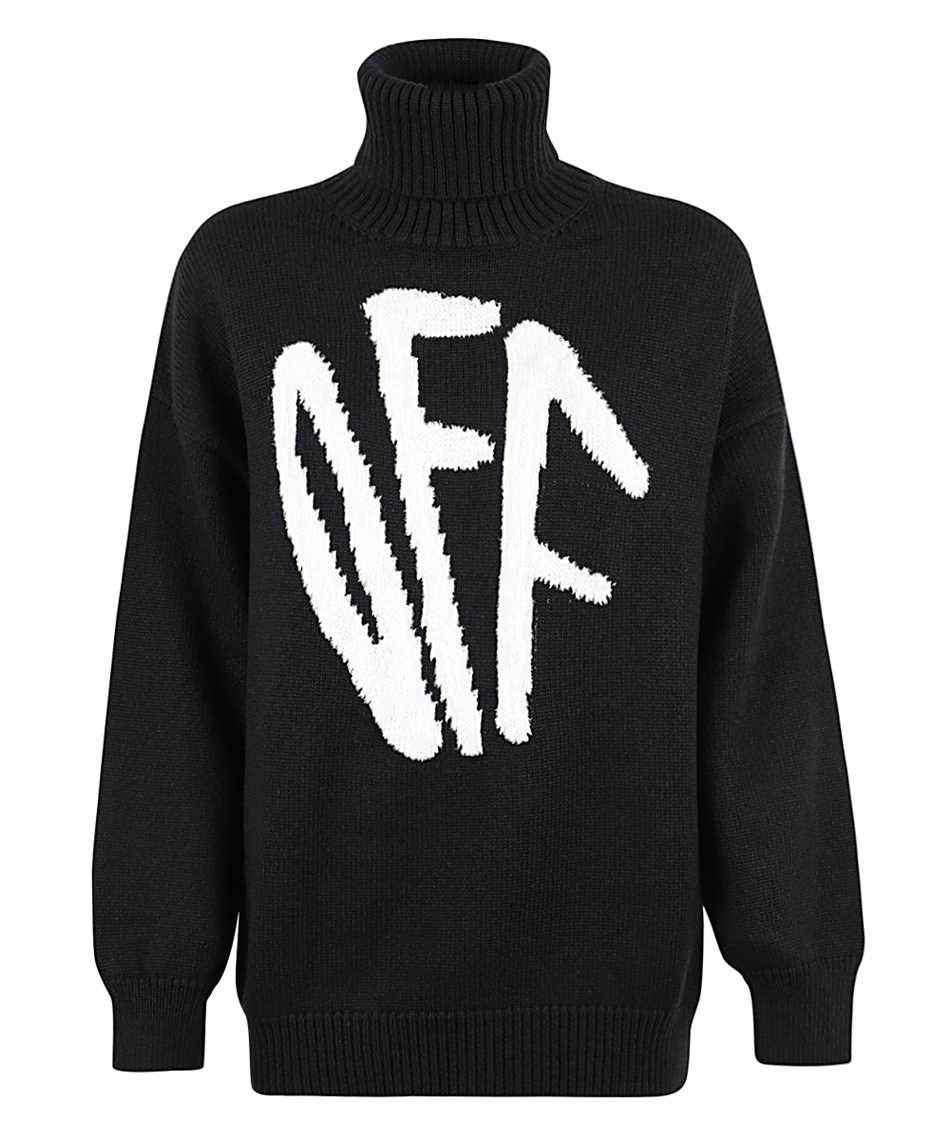 Off-White OWHF008F20KNI001 GRAFFITI Knit 1