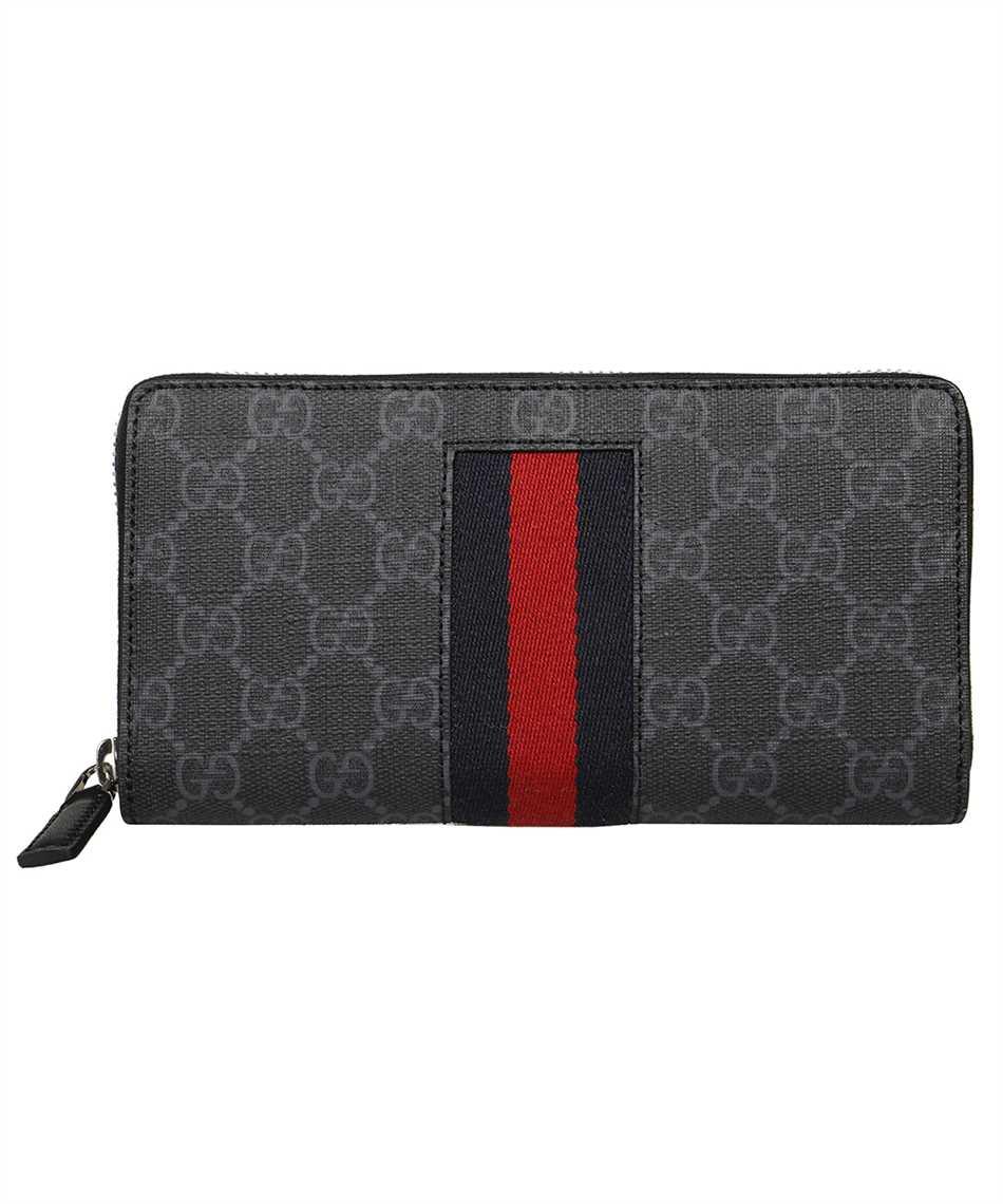 Gucci 408831 KHN4N GG SUPREME WEB ZIP AROUND Geldbörse 1