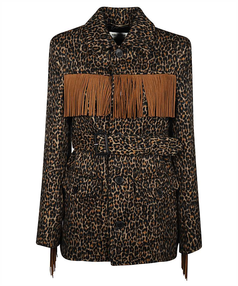Saint Laurent 630896 Y3B52 LEOPARD-PRINT Jacket 1
