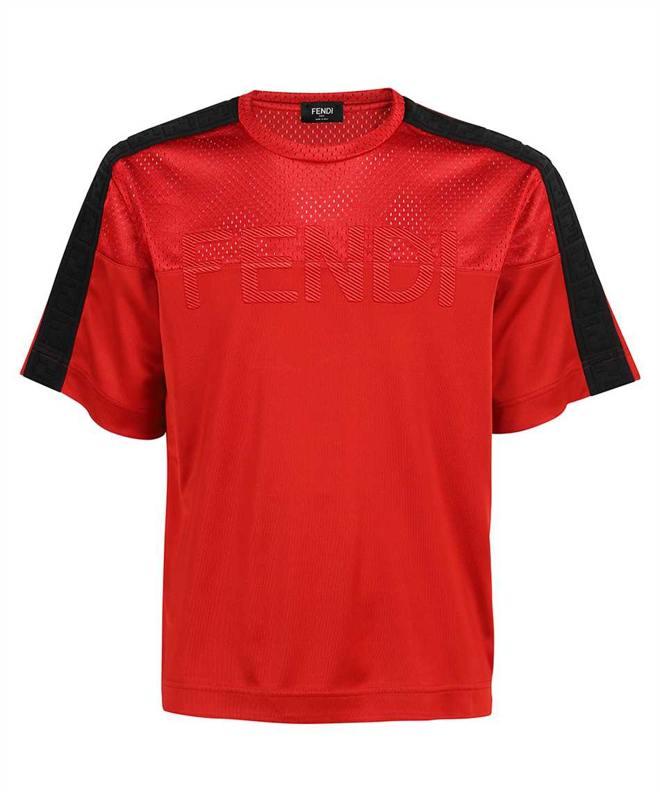Fendi FAF631 A52I REGULAR-FIT MESH T-shirt 1