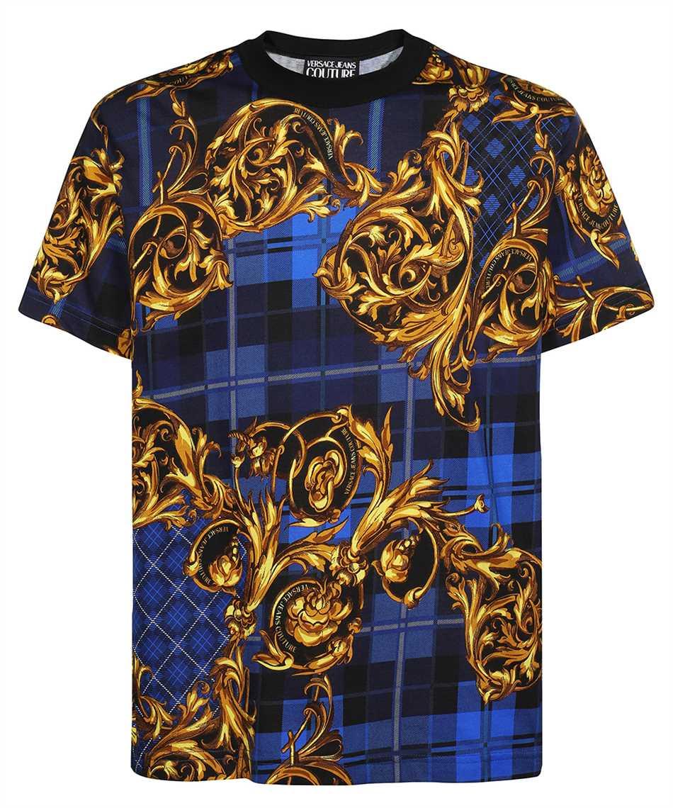 Versace Jeans Couture 71GAH6R6 JS025 TARTAN BAROQUE PRINT T-shirt 1