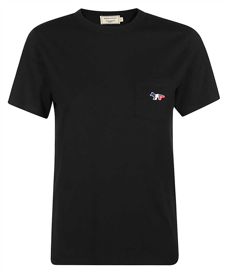 Maison Kitsune FW00107KJ0010 TRICOLOR FOX PATCH CLASSIC POCKET T-Shirt 1