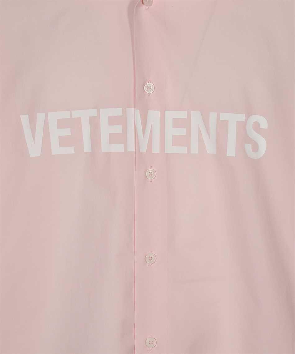 Vetements UE51SH300P FRONT LOGO Shirt 3