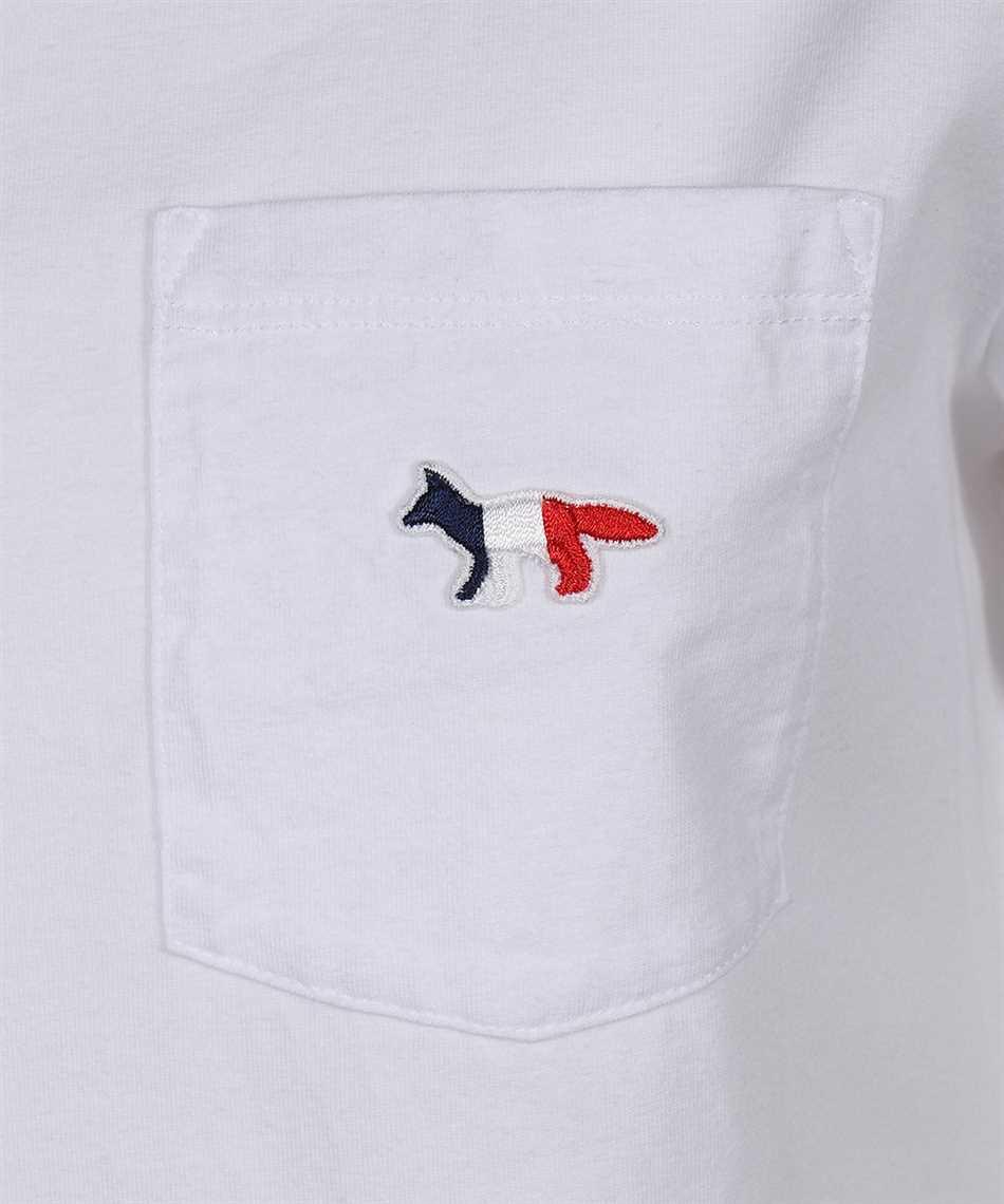 Maison Kitsune FW00107KJ0010 TRICOLOR FOX PATCH CLASSIC POCKET T-Shirt 3