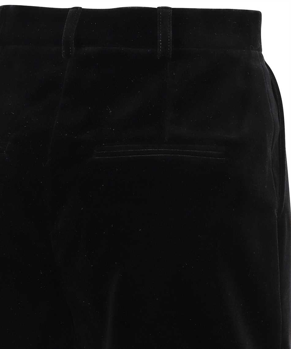 Saint Laurent 661357 Y615W VELVET PLEATED Shorts 3