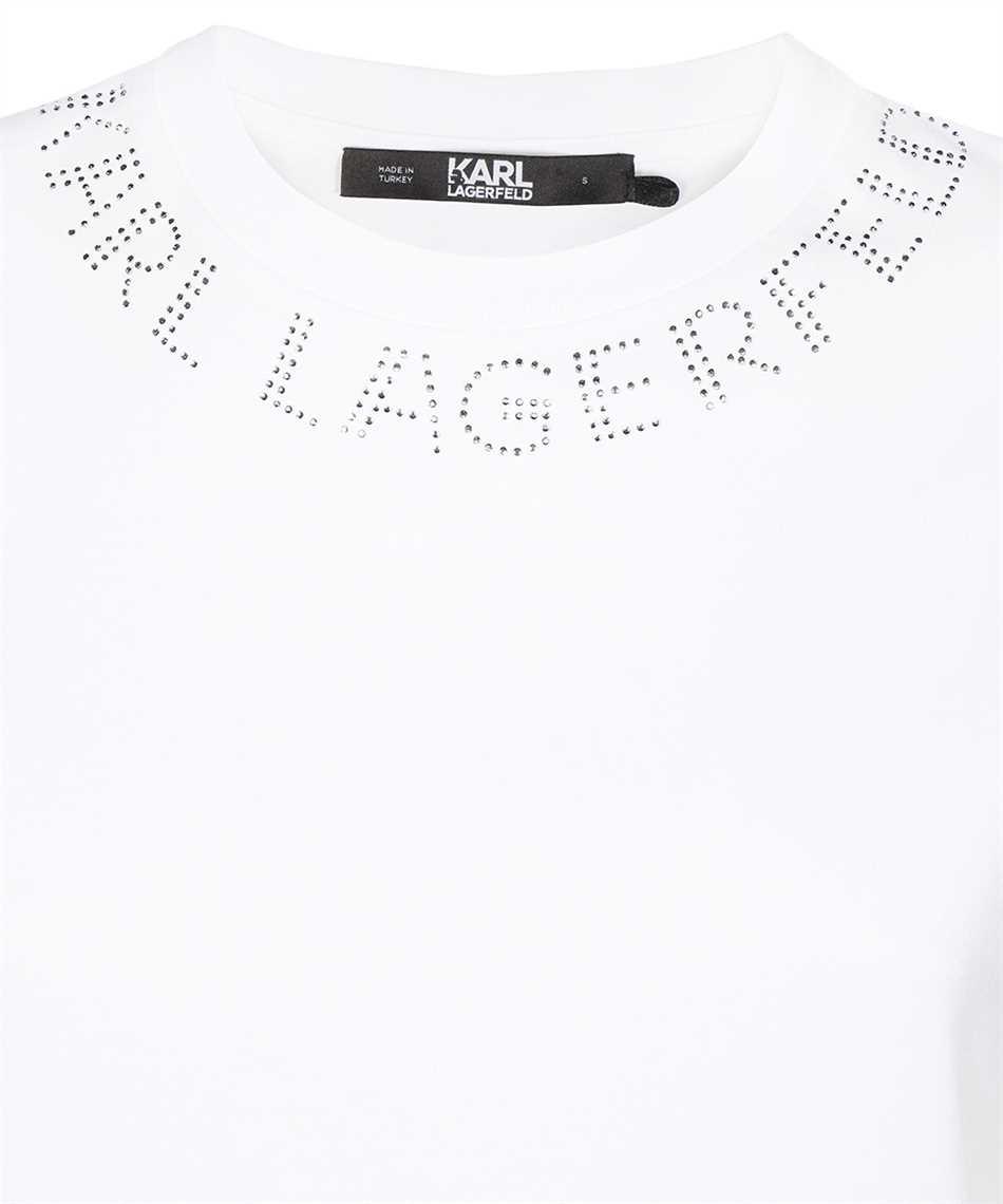 Karl Lagerfeld 216W1704 RHINESTONE KARL LOGO T-Shirt 3