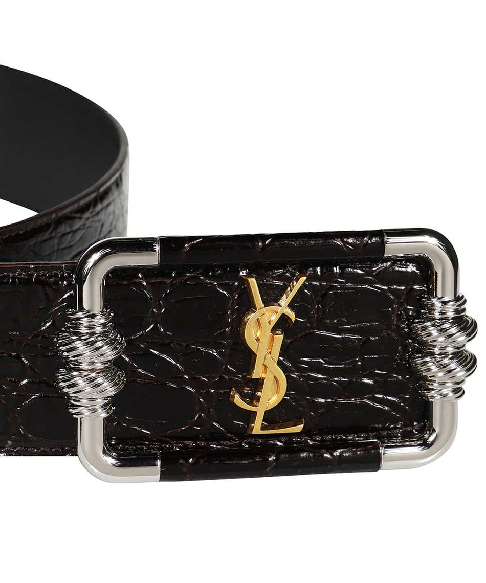 Saint Laurent 640548 1ZQ0X MONOGRAM VINTAGE Belt 3