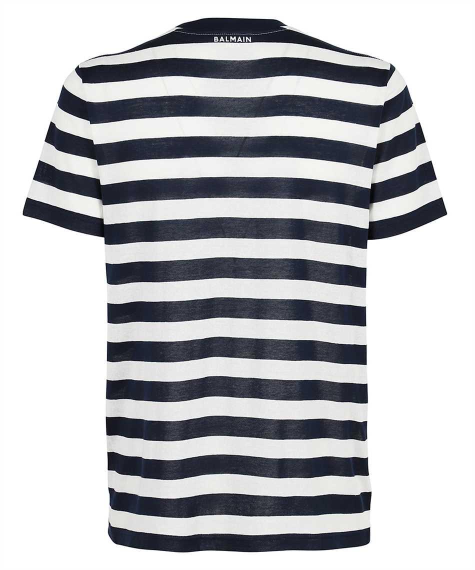 Balmain WH0EF000J333 BACK STRIPPED T-shirt 2