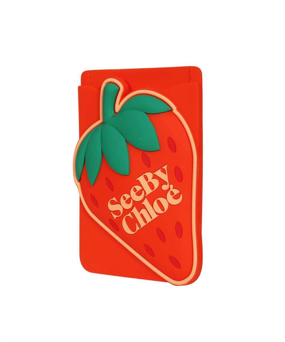 See By Chloè CHS21AK649A07 JARDIN DE ROSES Porta carte di credito on phone 3