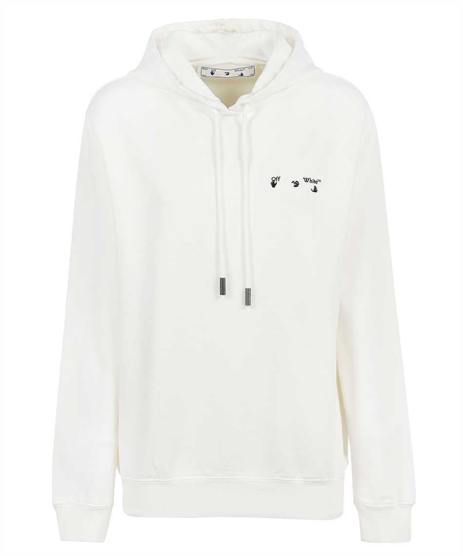 Off-White OWBB035R21JER002 ARROW LIQUID MELT Kapuzen-Sweatshirt 1