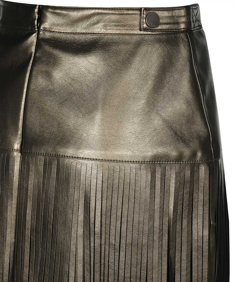Karl Lagerfeld 216W1206 FAUX-LEATHER FRINGED Gonna 3