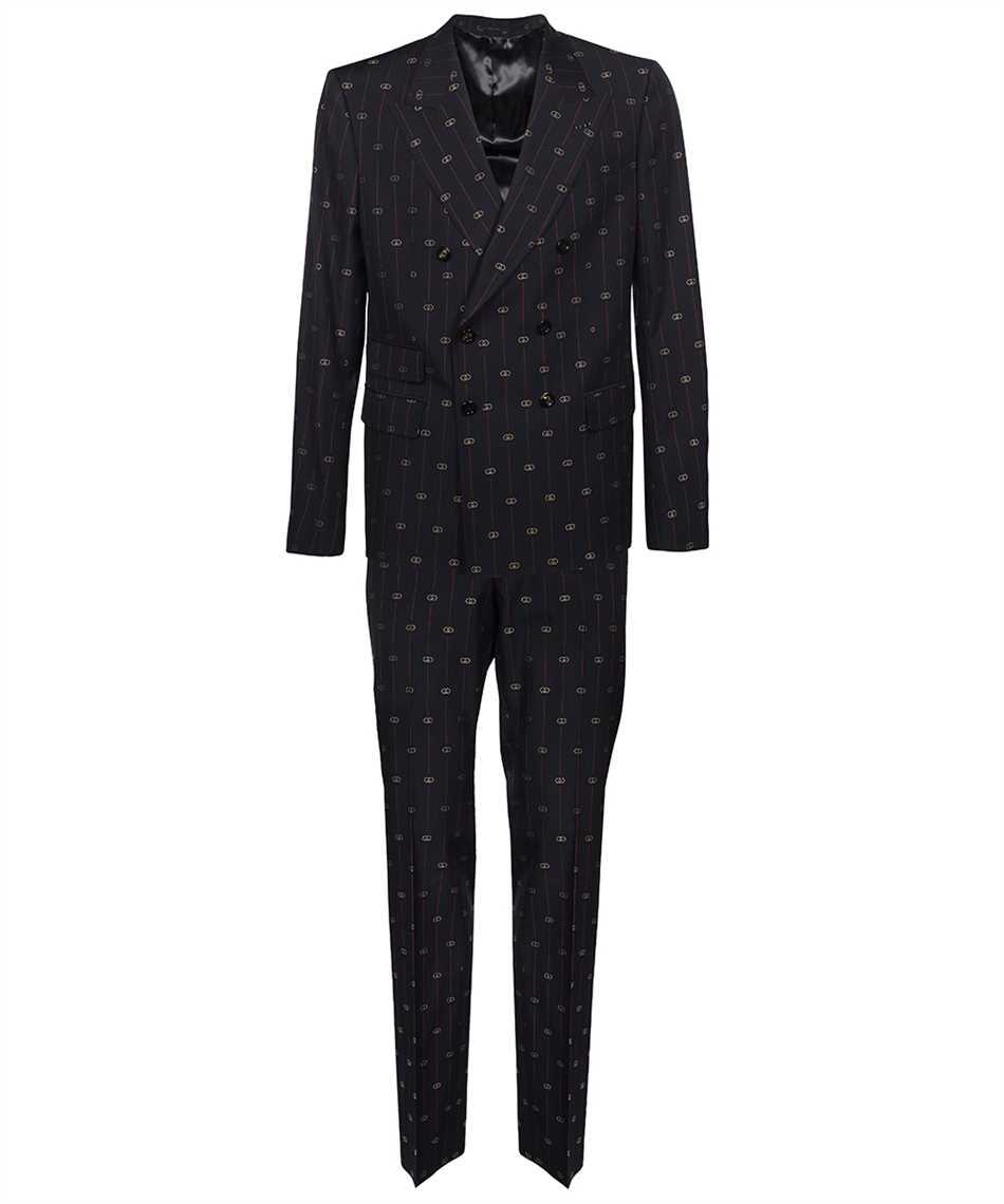 Gucci 660190 ZAGWR INTERLOCKING G STRIPE WOOL Suit 1