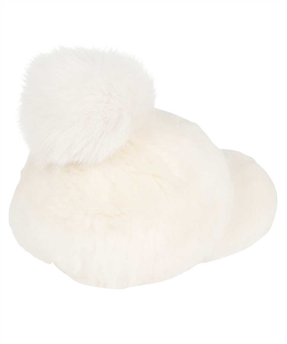 Karl Donoghue CMFPCW1 CASHMERE TOUCH SHEARLING WITH FOX FUR POM Cappello 2