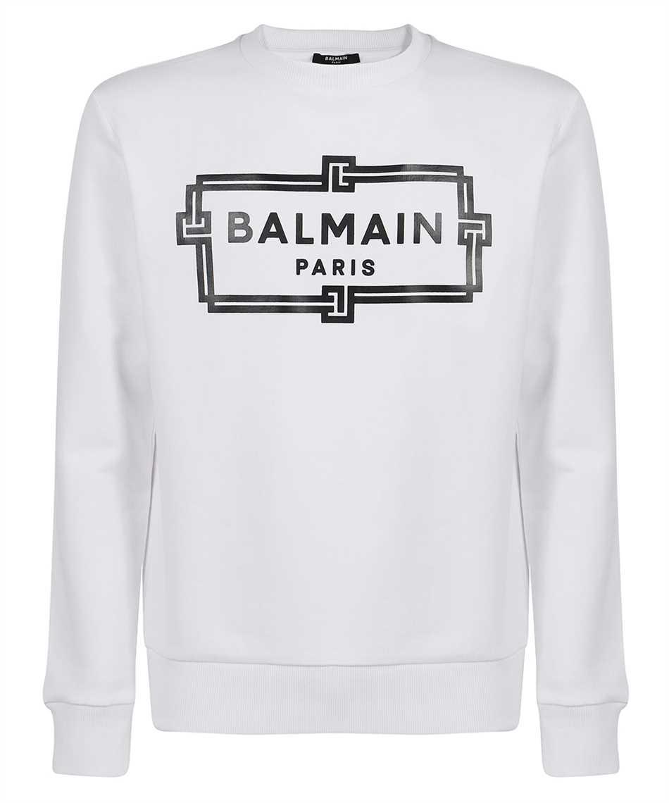 Balmain VH0JQ040G066 BOX LOGO PRINT Sweatshirt 1
