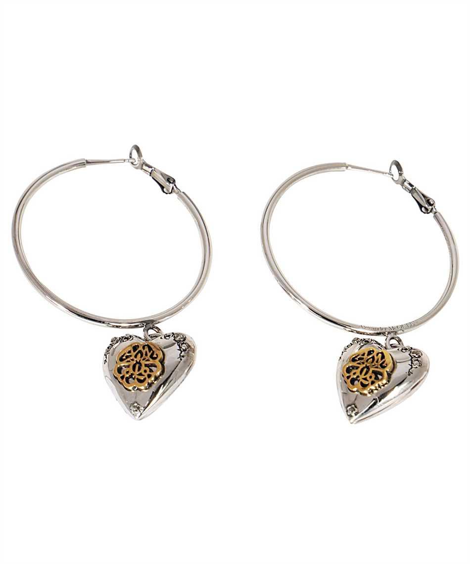 Alexander McQueen 640266 J160Z HEART LOCKET HOOP Earrings 1