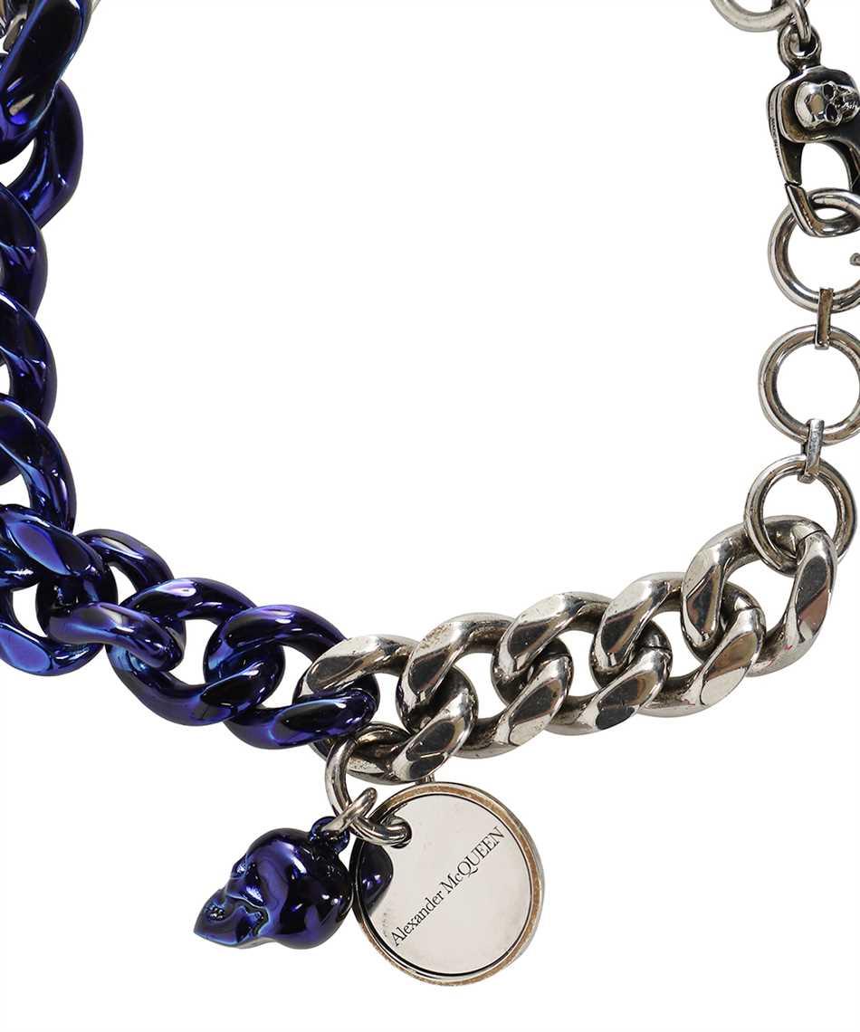 Alexander McQueen 663686 IAG2Y BLUE CHROME CHAIN SKULL Bracciale 3