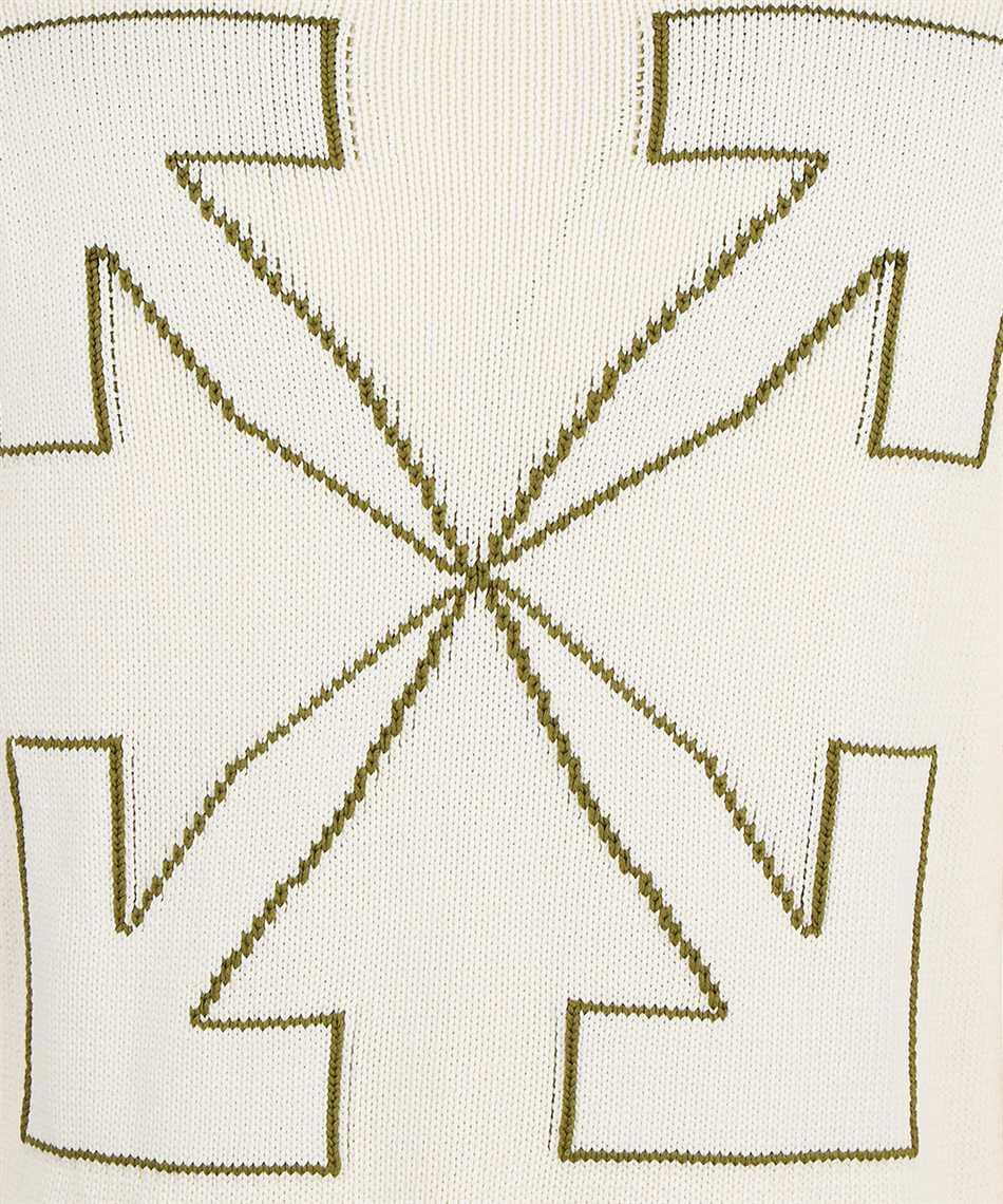 Off-White OMHE087F21KNI001 ARROW DIAG OUTLINE Maglia 3