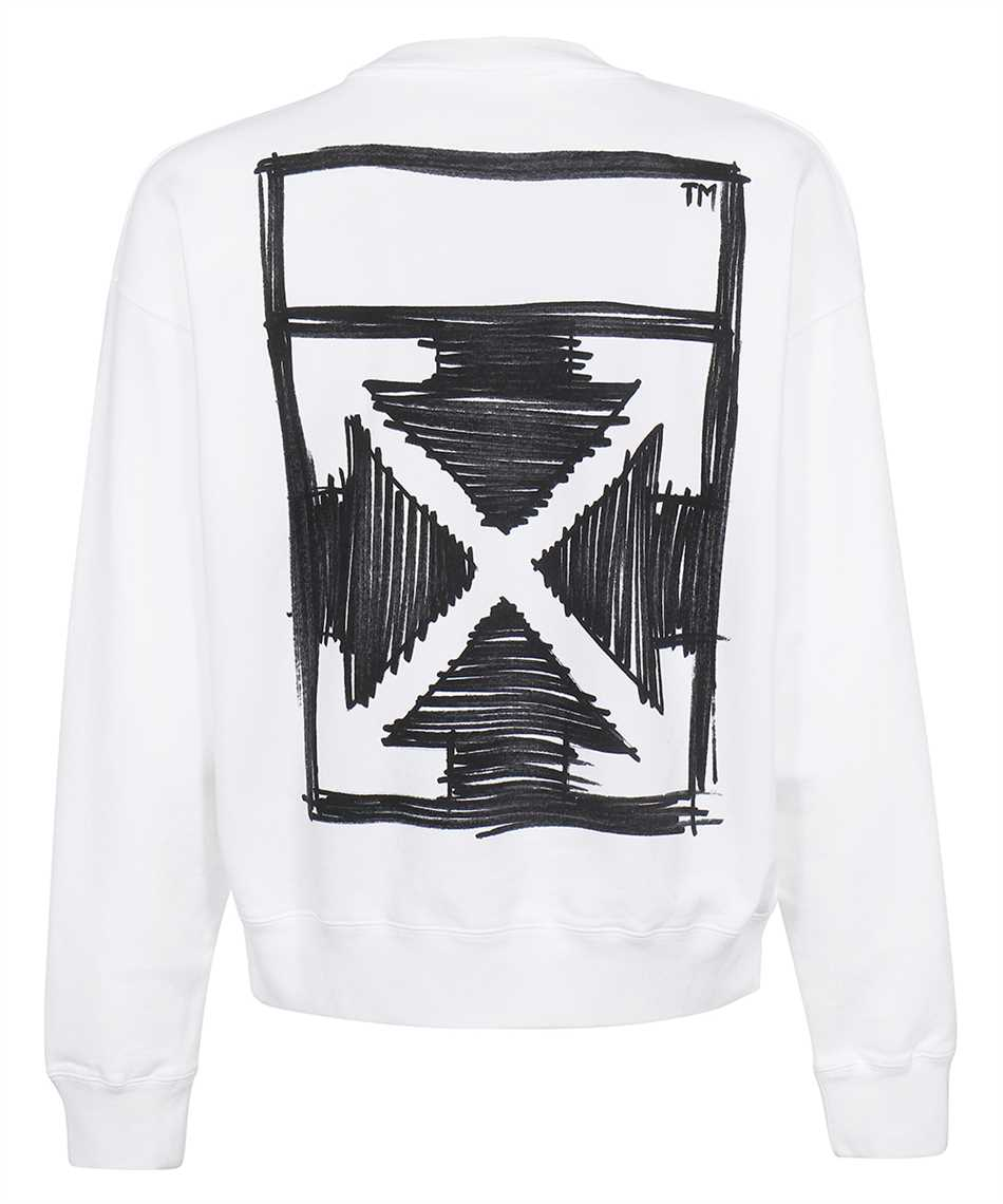 Off-White OMBA054F21FLE014 NEGATIVE MARK SKATE Sweatshirt 2