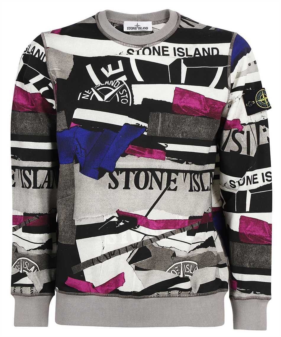 Stone Island 63087 BRUSHED COTTON MIXED MEDIA ALL OVER PRINT Sweatshirt 1
