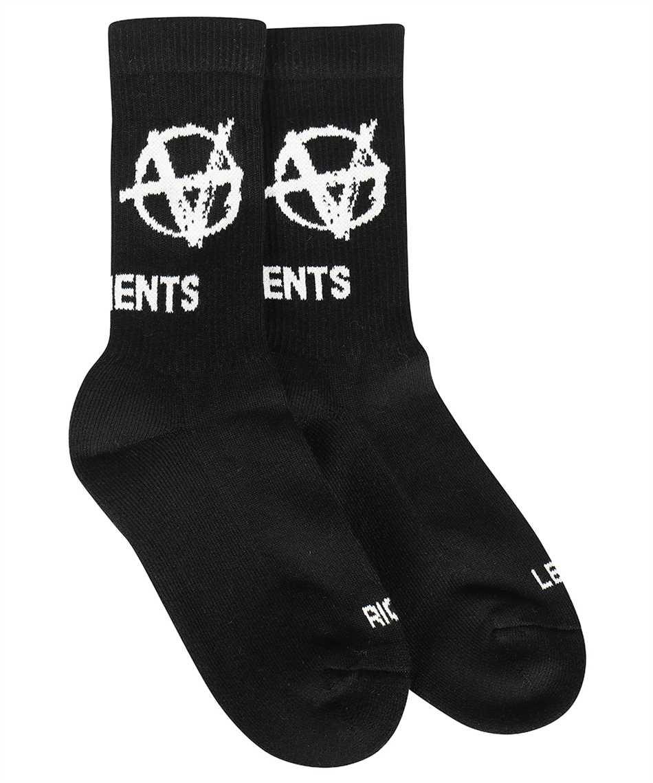 Vetements UA52SO300B ANARCHY LOGO Socken 2