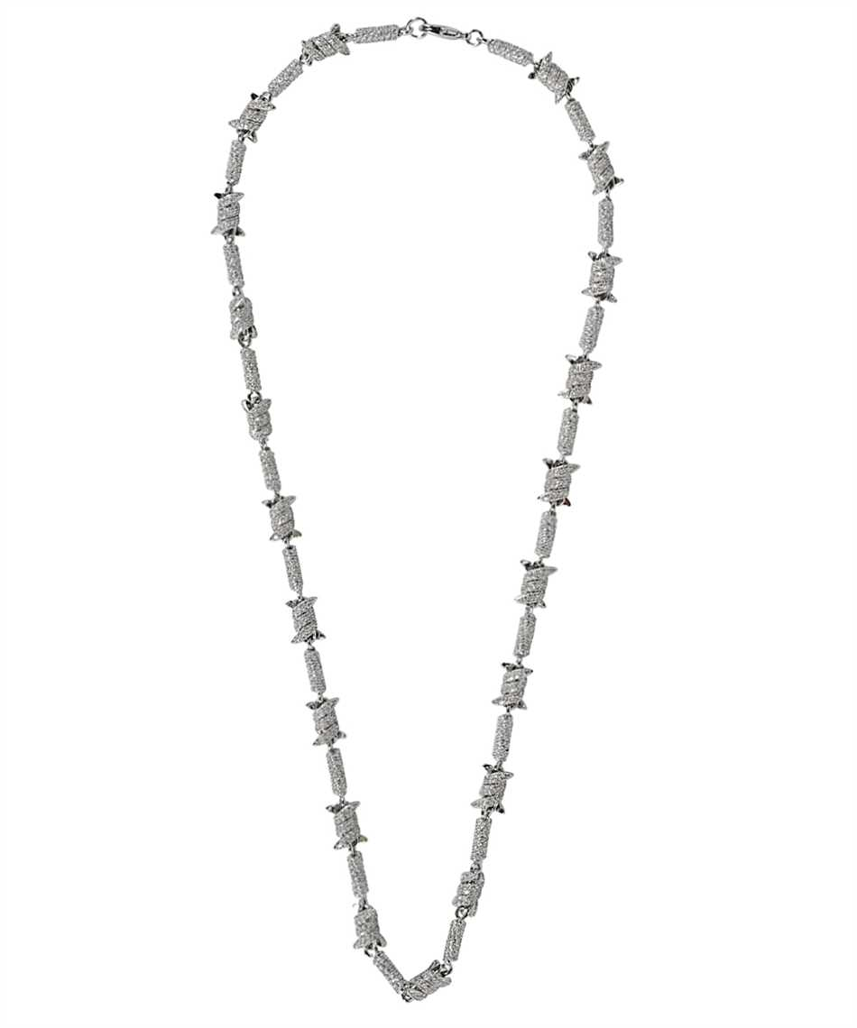 Darkai DICO0011BBDIL BARBED WIRE ICED OUT Collana 1