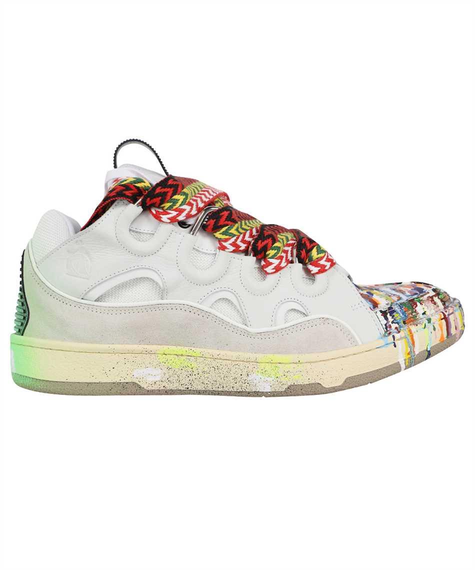 Lanvin FM SKRK11 DRGD E21 PAINTED LEATHER CURB Sneakers 1
