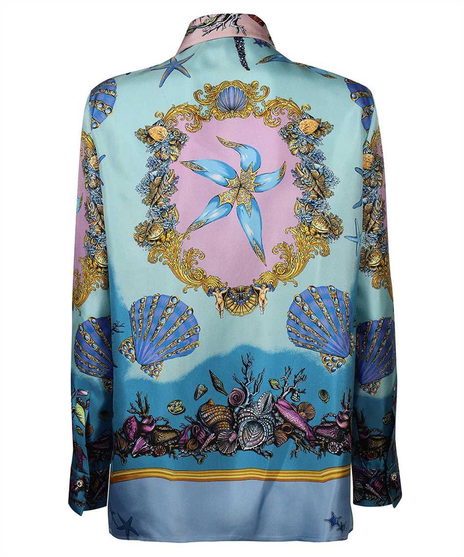 Versace A82662 1F00905 TRÉSOR DE LA MER PRINT SILK TWILL Shirt 2