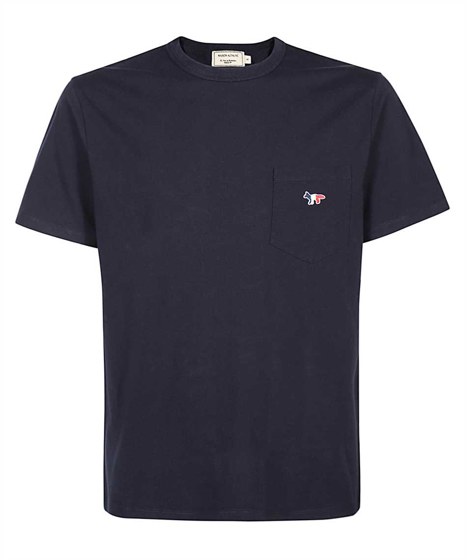 Maison Kitsune FM00120KJ0010 TRICOLOR FOX PATCH POCKET T-shirt 1
