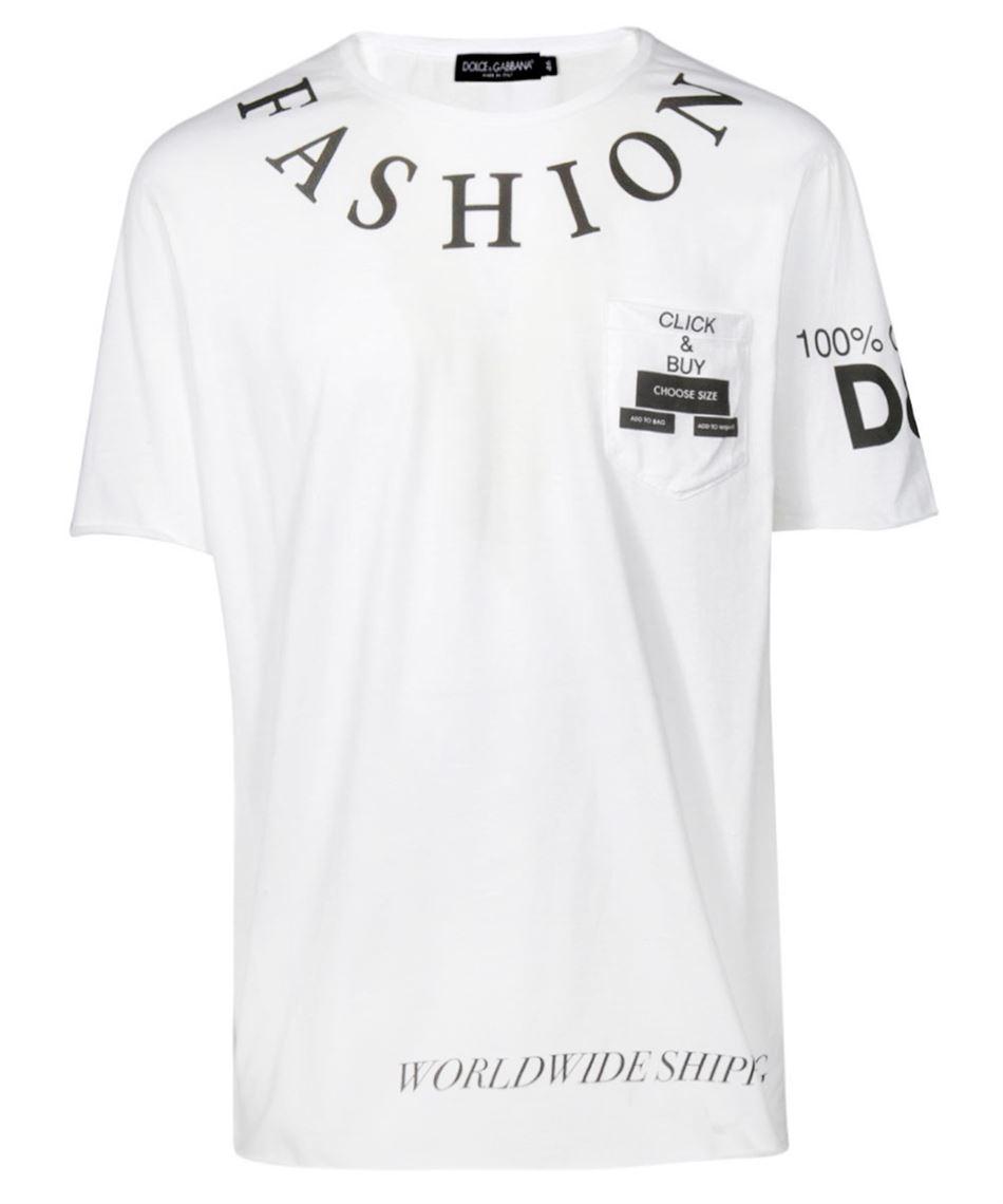 86ac90ce21aa Dolce & Gabbana G8IG6T FH7D7 t-shirt uomo bianca girocollo Bianco